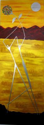 Alu-Acryl  50x 140 cm, Leinwand auf Holz  2014